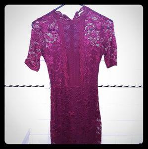 Beautiful deep wine color lace dress